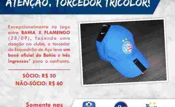1 boné vale 3 ingressos - Notícias Esporte Clube Bahia 76e7dd51c4c