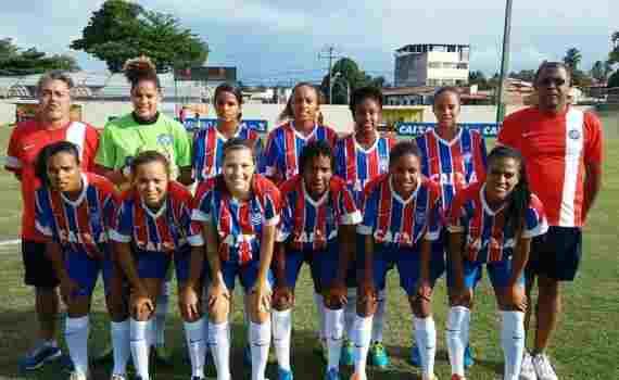 81107ebbc4 O Bahia está eliminado do Campeonato Brasileiro feminino. Jogando no  estádio municipal de Lauro de Freitas
